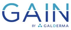 Gain by Galderma logo